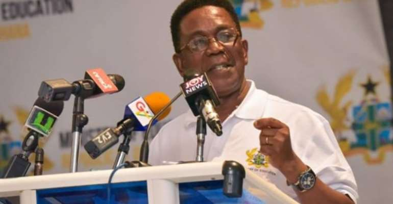 Prof Kwesi Yankah is the minister in charge of Tertiary Education
