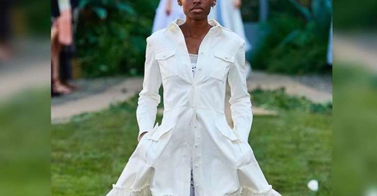 The only black to hit runway in Milan for designer who rejected her