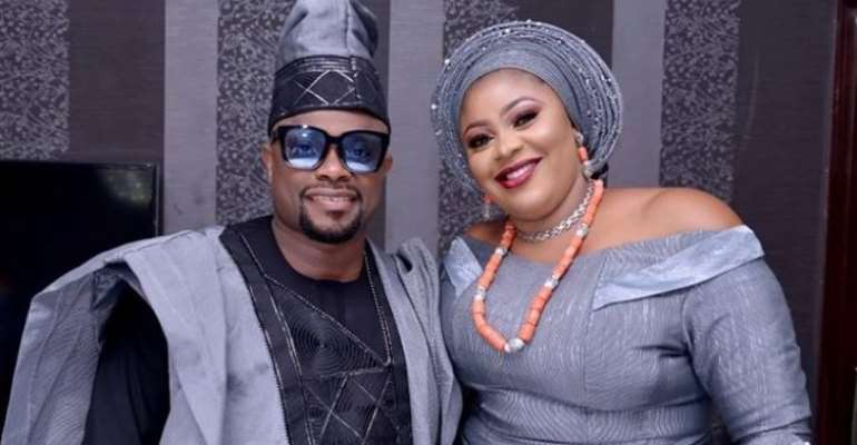 Nollywood actor, Imeh Bishop Celebrates 5th year Wedding Anniversary