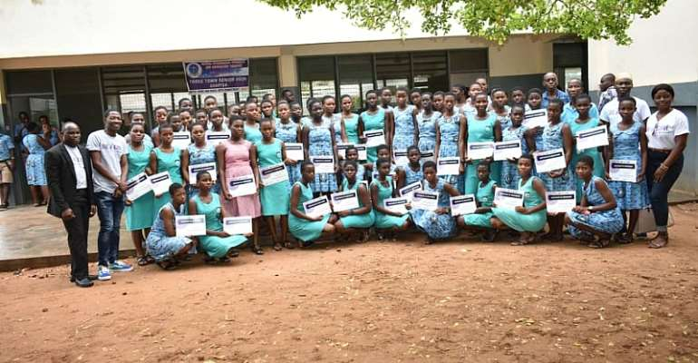 Be A Girl Awards 300 Girls in Ketu South Municipality on International Day of the Girl Child