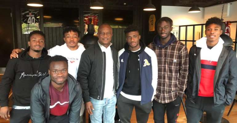 Ghana Coach Kwesi Appiah Visits Ghanaian Players At FC Nordsjælland In Denmark