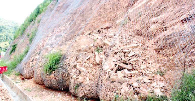 Poor drainage responsible for landslide on Aburi road – NADMO