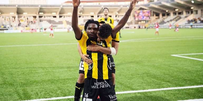 Kwame Kizito On Target As BK Hacken Defeat Helsingborg 2-0