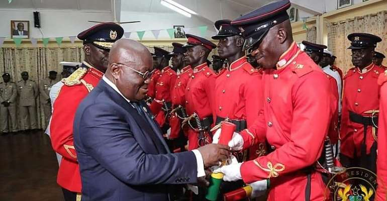 Maintain The Armed Forces High Standards—Akufo-Addo Tells Officer Cadet
