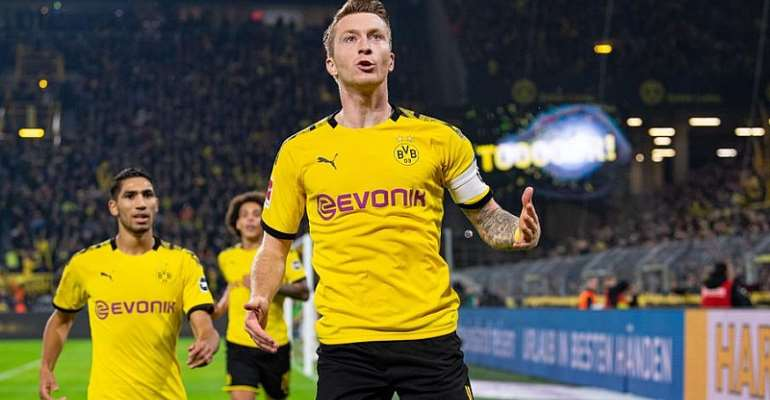 Bundesliga: Reus strikes As Dortmund Down Gladbach To Close On Leaders