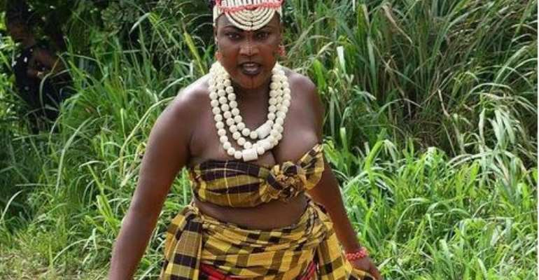 Actress, Charity Asuquo Catches Fun with Manhood in Village