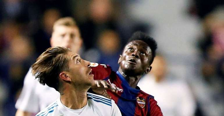 Emmanuel Boateng Cameos As Levante Beat Real Madrid