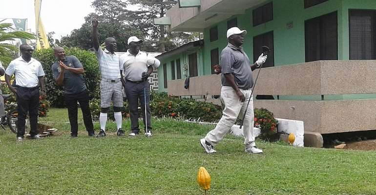Okyenhene Celebrates 20 Years With Exciting Invitational Golf Tourney At Akyem Tafo