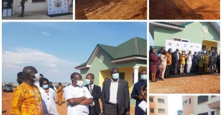 Finance, Housing Ministers Visit Affordable Housing Sites In Tema