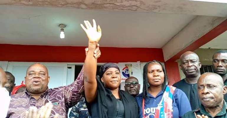 2020 Election: Late Mfantseman MP's Wife Files Nomination Forms To EC