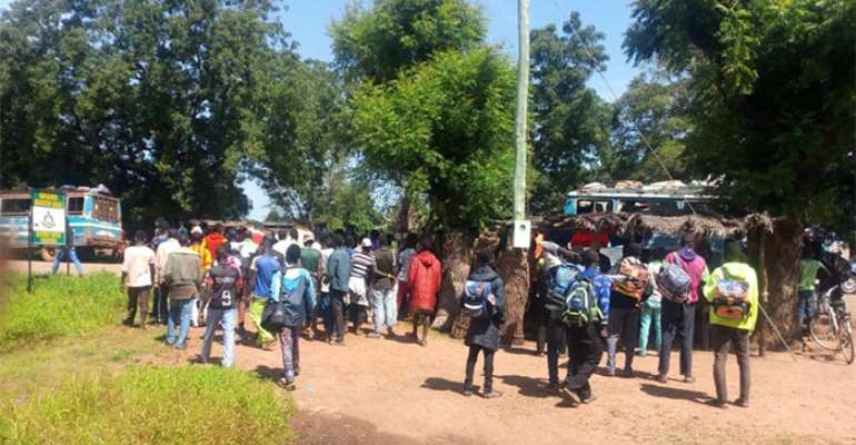 The Togolese nationals at the Immigration office in Saboba