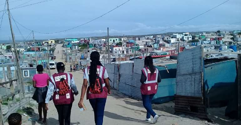 Activists of the  Movement for Change and Social Justice canvassing the streets of Gugulethu in Cape Town.  - Source: MCSJ