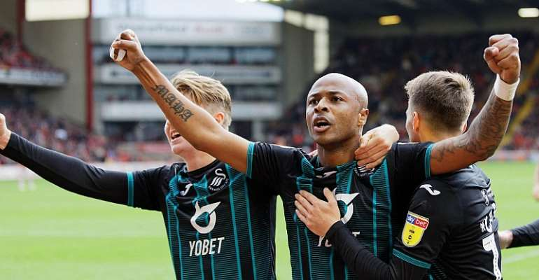 Swansea City Boss Praises Andre Ayew For His Impressive Goal Scoring Form