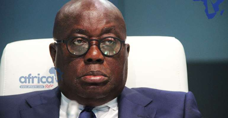 Pensive mood Nana Akufo Addo, photo credit: Ghana media