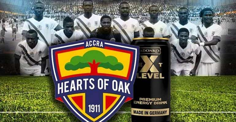 Hearts of Oak To Land Partnership Deal With Adonko Next Level Energy Drink