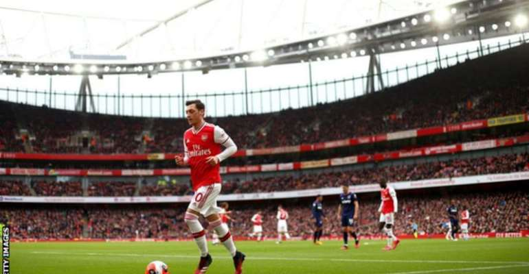 Mesut Ozil has not played for Arsenal since their home win over West Ham on 7 March