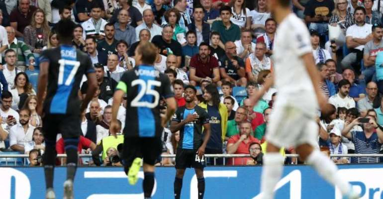 UCL: Real Madrid Rescue Draw Against 10-Man Club Brugge