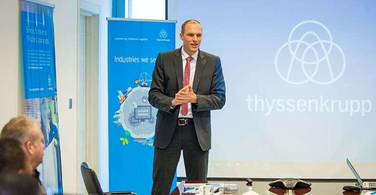 Thyssenkrupp's Chief Executive Officer (CEO) for Sub-Saharan Africa, Dr. Philipp Nellessen