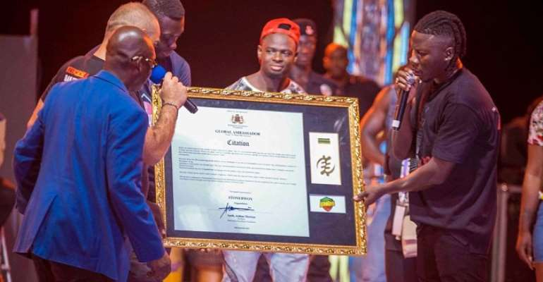 Stonebwoy made Global Ambassador for Sanitation