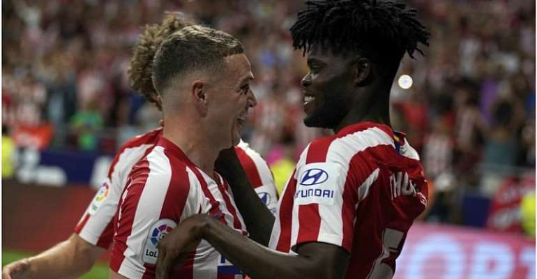 UCL: Watch Thomas Partey's Goal In Atletico Madrid 2:0 Win Over Lokomotiv Moscow