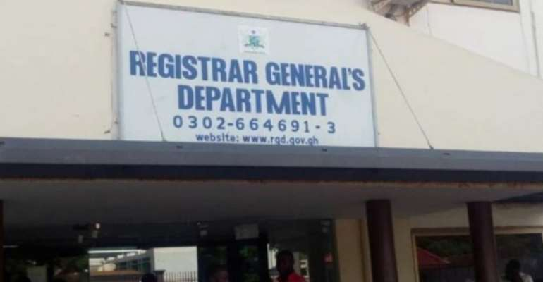 The Registrar General Department (RGD) Of Ghana Is Disappointing Ghana