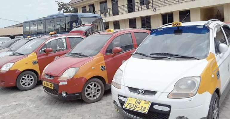Some of the impounded vehicles at the Accra Regional Police Command