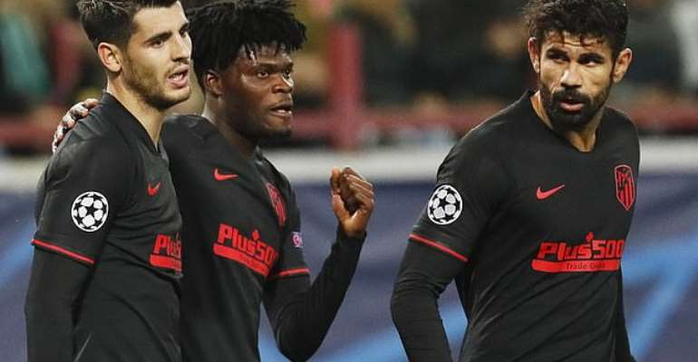 VIDE0: Partey Scores As Atletico Madrid Record 2-0 Win Against Locomotive Moscow