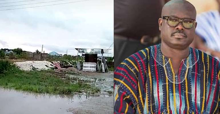 'Metro Mass' Residents Fume At MCE Over Abandoned Drainage Project In Dodowa