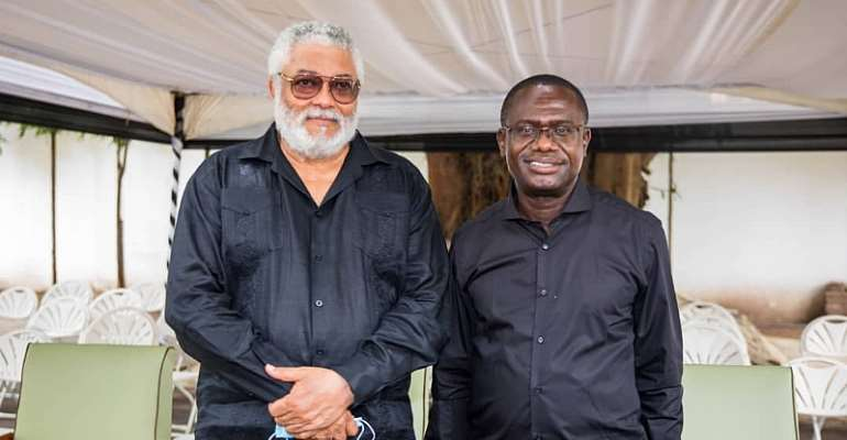 JOSPONG Group Chairman Siaw Agyepong Mourns With Rawlings' Family