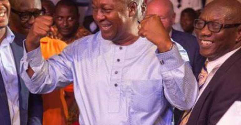 Former Prez. Mahama Congratulates Bastie, Empathizes With 'Friend' Bukom Banku