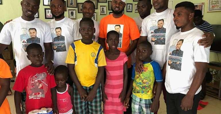 Ernest Opoku, E.O Musical Band Donate To Teshie Children's Home