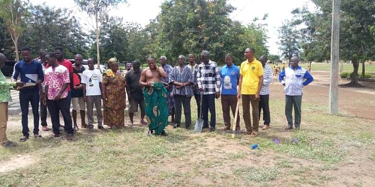 V/R: Akatsi North District Cuts Sod For Two Separate School Projects