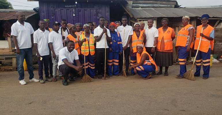NABCO Trainees In Atiwa East Holds Clean-Up Exercise