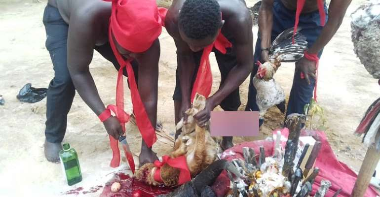 AUDIO: Let The False Accuser Bloat, Struck Him/er Dead — NDC Supporters Perform Ritual To Curse Those Accusing PC Of Plot To Kill Gender Minister