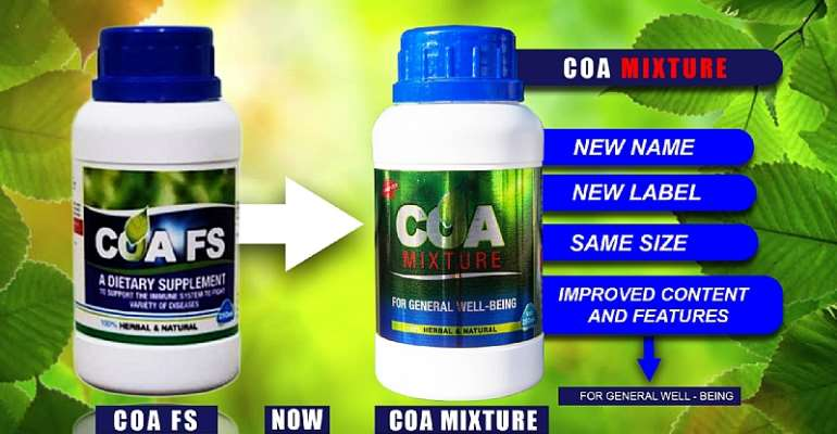 Gov't Shows Support For Herbal Medicine At COA Mixture Launch