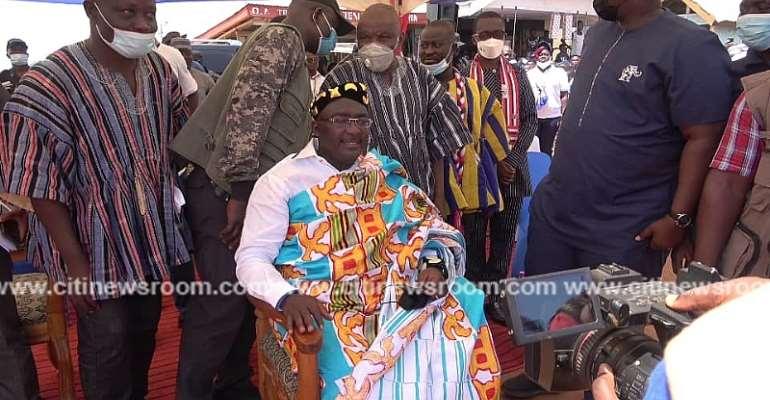Bono East: Bawumia Enstooled Afotupahene At Jema
