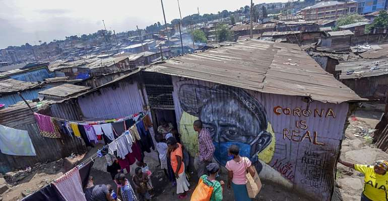 Densely populated areas, like Mathare in Kenya, enable viruses to spread rapidly.  - Source: Billy Mutai/SOPA Images/LightRocket via Getty Images
