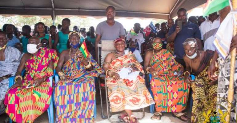 Buem: Construction Of Four Roads Within One Year Unprecedented – Jasikan Chief Praises Akufo-Addo