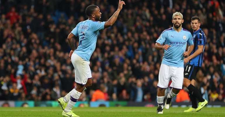 UCL: Sizzling Sterling Bags Hat-Trick As Man City Thump Atalanta