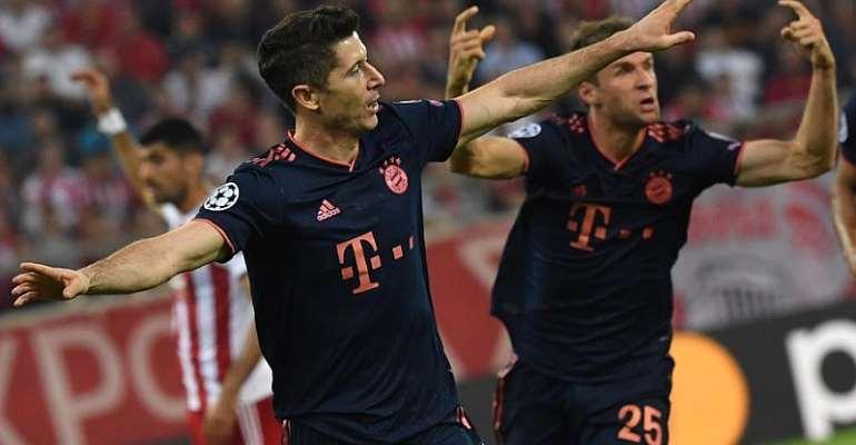 UCL: Lewandowski Goals Help Bayern Past Olympiakos