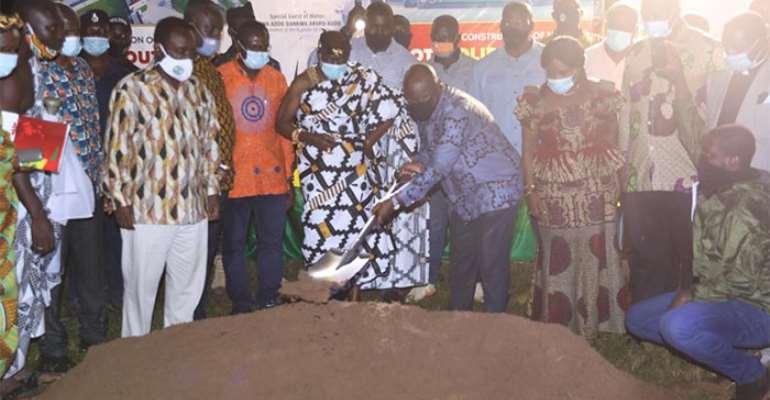 Oti Region: Akufo-Addo Cuts Sod For Construction Of Stadium, Waste Plant