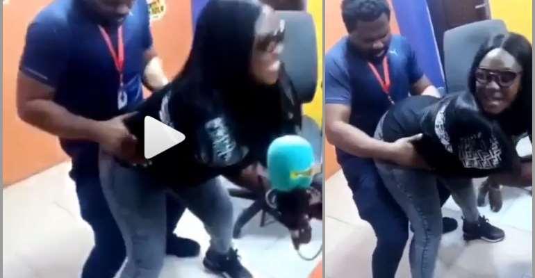 VIDEO: Ghanaians React To Video Of Emelia Brobbey 'Grinding' Fiifi Pratt