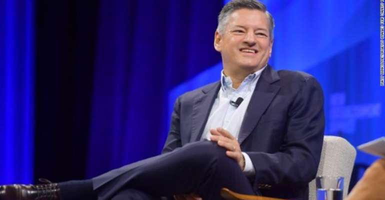 Ted Sarandos, Chief Content Officer at Netflix, speaks onstage during Vanity Fair's 6th Annual New Establishment Summit on Wednesday.