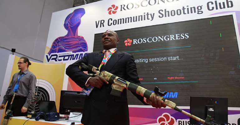 Visitors to Russia–Africa Economic Forum's Innovation Space to Enjoy VR Teleportation