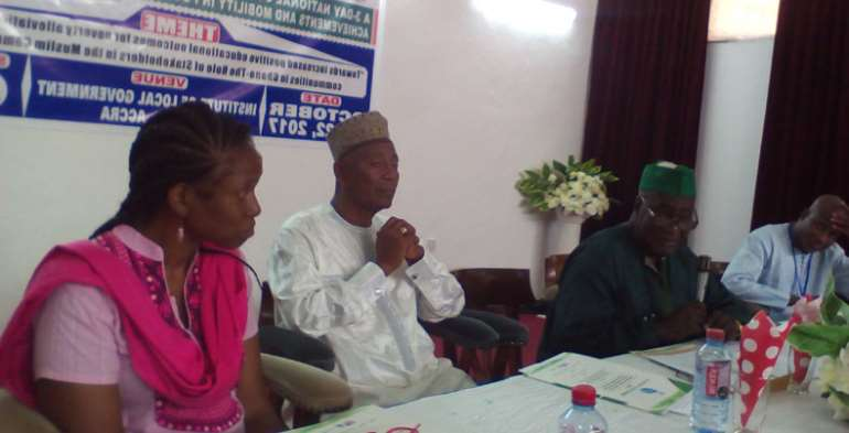Some dignitaries on the high table