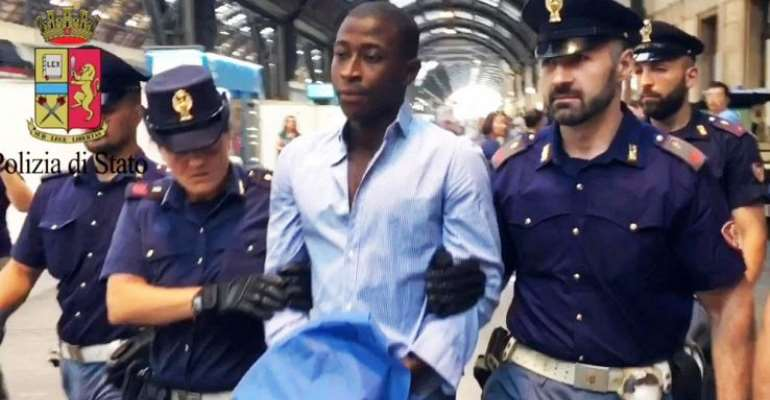 Ghanaian Footballer Who Murdered His Mother And Sister In Italy Released From Prison