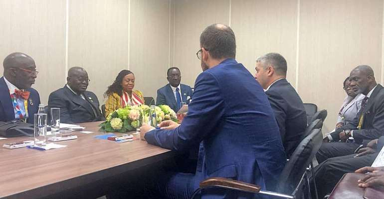 Yango Meets President Akufo-Addo During Russia-Africa Summit