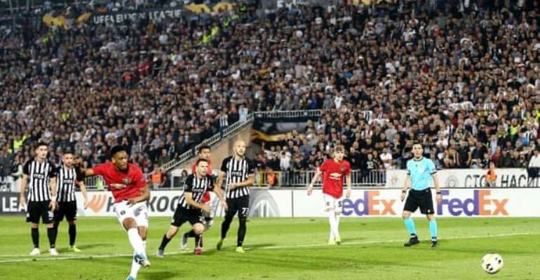 Europa League: Martial Penalty Ends Man Utd's Winless Away Run