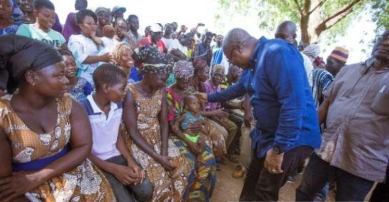 Mahama Sympathizes With Gbedembilisi Flood Victims