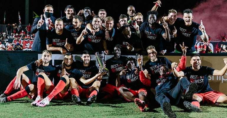 USL Championship: Solomon Asante Captains Phoenix Rising FC To Lift Western Conference Title